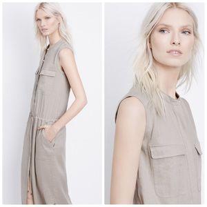 Vince. Linen Cargo Maxi Dress